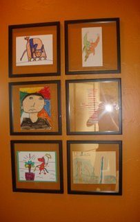 How to Display Your Children's Artwork ~ Without a Refrigerator!