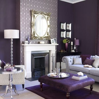 Monochromatic Living Room Designs Ideas