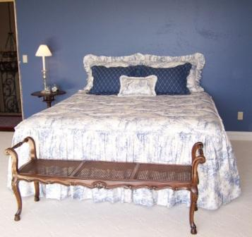 Custom bedding; fabric from France