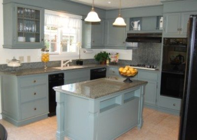 Blue Painted Country Kitchen