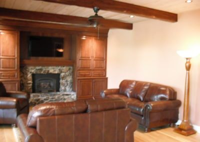 Custom decorative finished beams