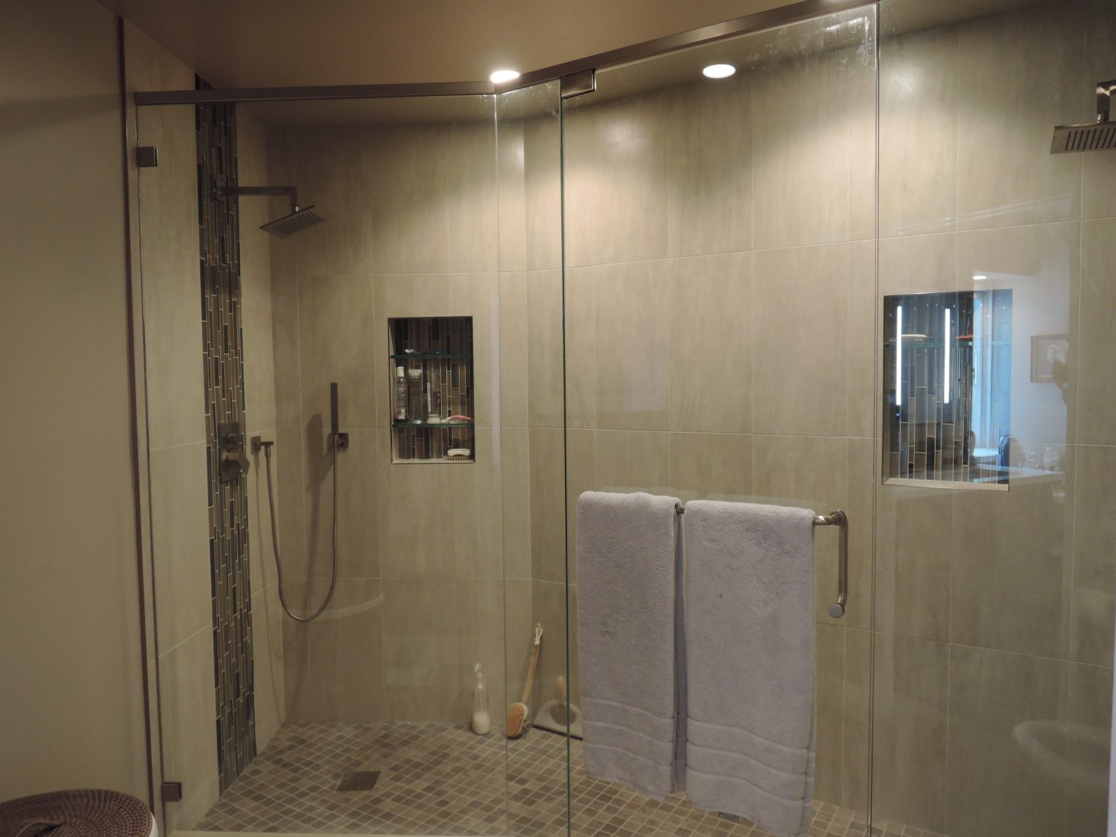 San Mateo Condo Master Shower Inside Out Designs